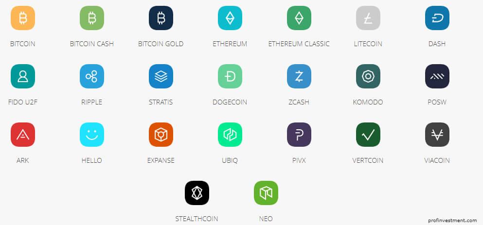 список криптовалют для ledger