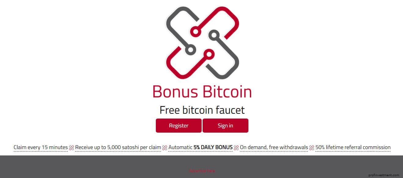 заработок криптовалюты на кране Bonus Bitcoin
