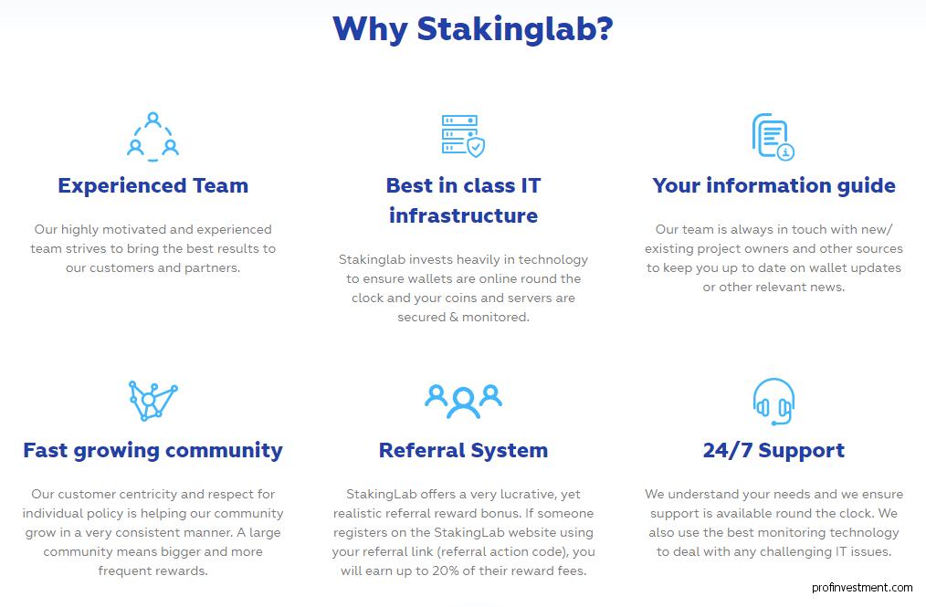 криптостейкинг на Stakinglab