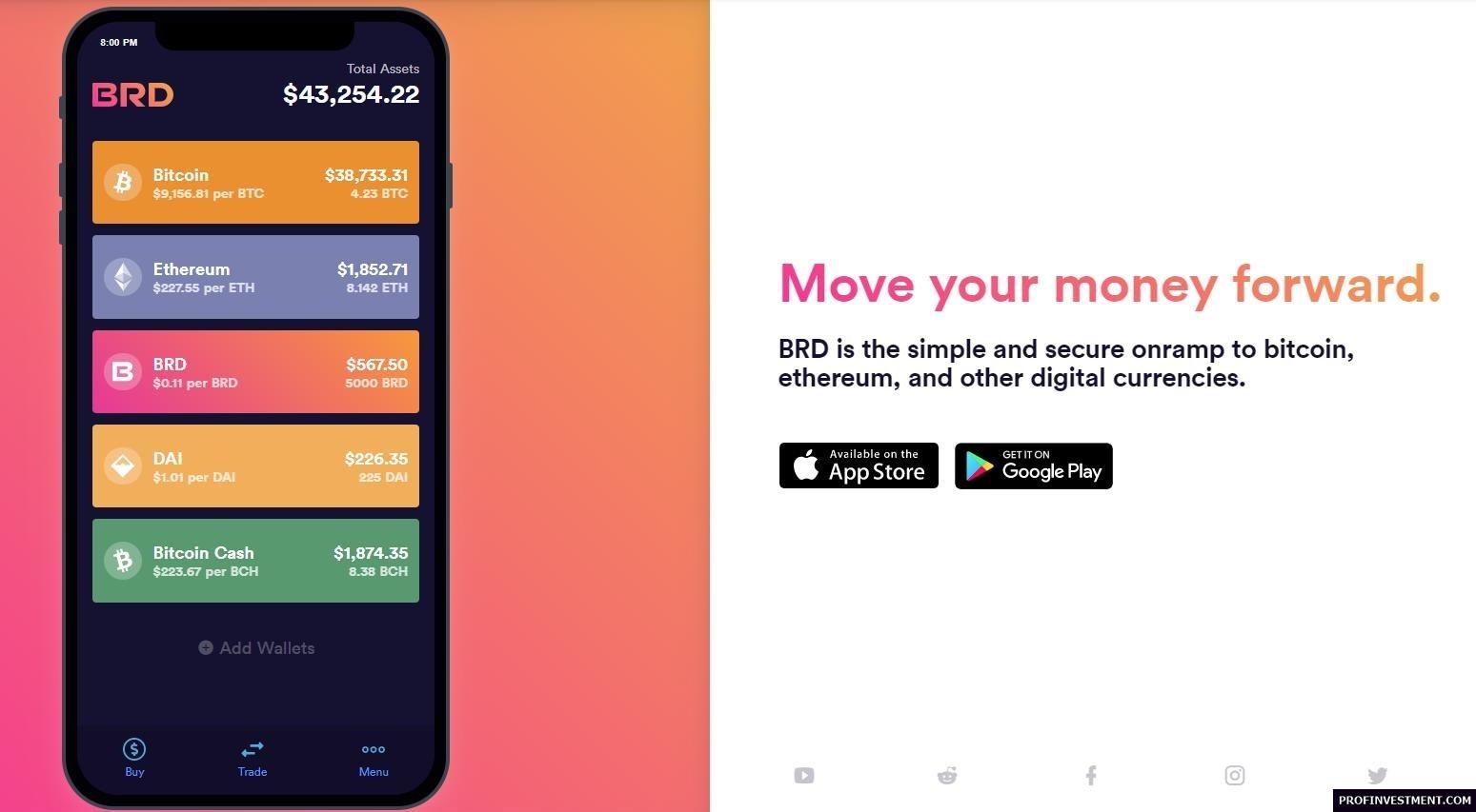 кошелек BRD для мобильного хранения криптовалюты