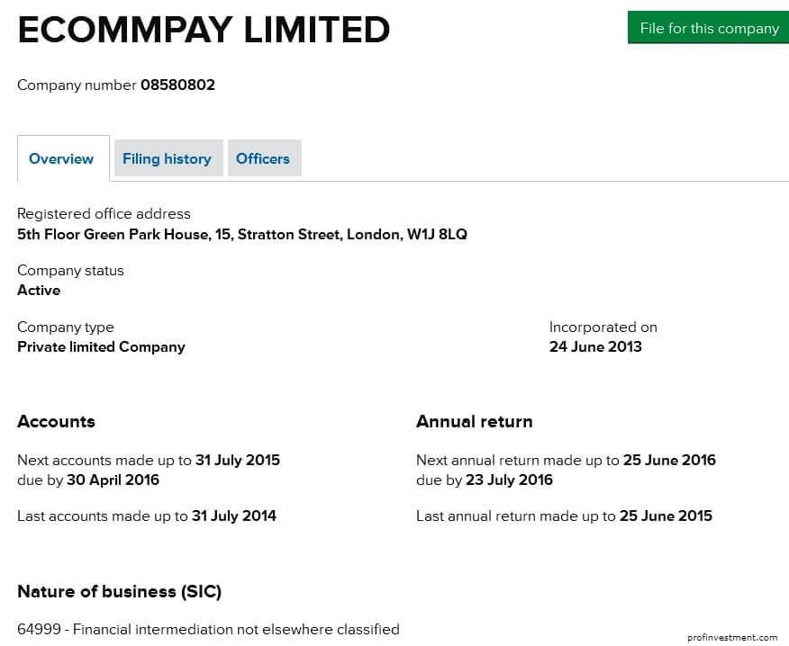 ECommPay Limited