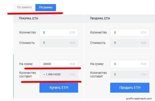 купить ethereum по рынку
