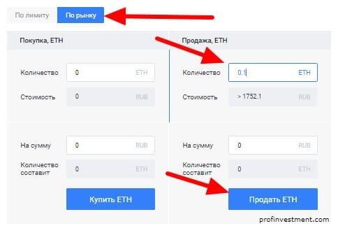 продажа crypto по рынку