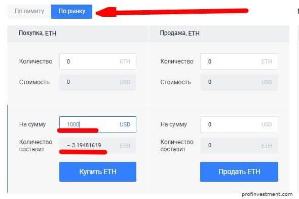 взять Ethereum по рыночной стоимости