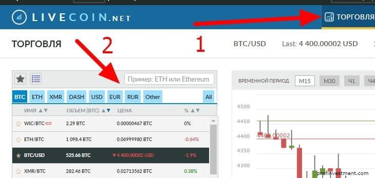 как купить криптовалюту на livecoin.net