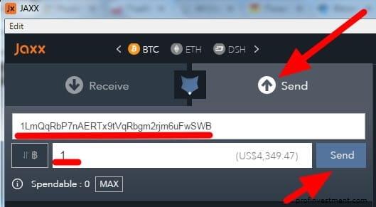 переводить биткоин с wallet jaxx