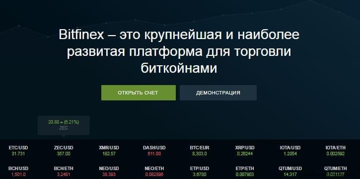 btc биржа bitfinex