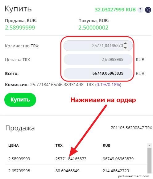 где купить криптовалюту tron за рубли