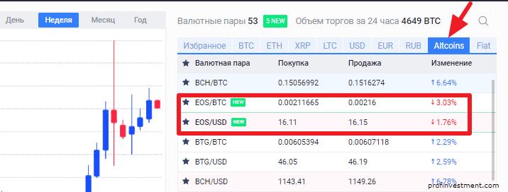 покупка криптовалюты еос на exmo