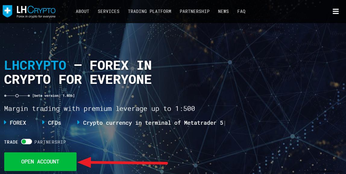 регистрация на официальном сайте LH-Сrypto.com