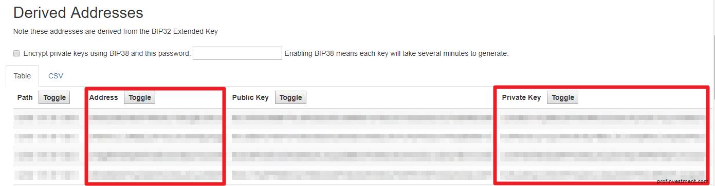 Private key в кошельке блокчейн инфо