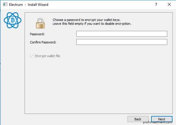 пароль от файла кошелька Electrum