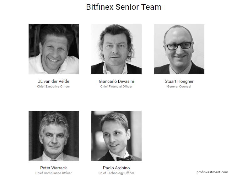 Руководство биржи Bitfinex