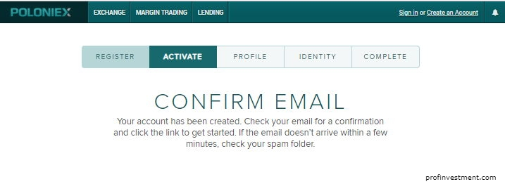 подтверждение email аккаунта полоникс