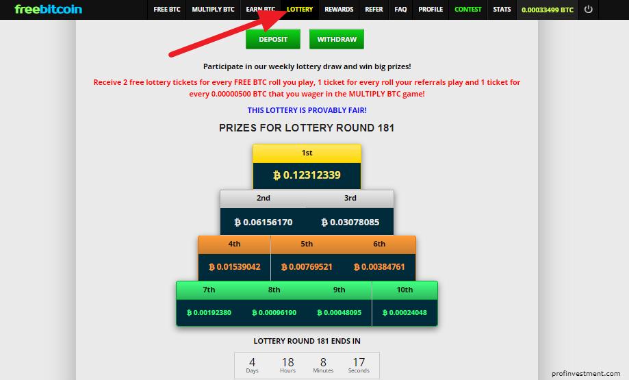 участвовать в лотереи биткоинов