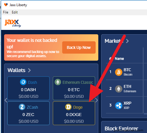 работа с dogecoin wallet