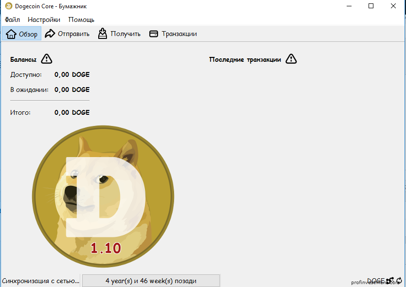 обзор официального кошелька Dogecoin