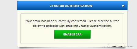 включение 2fa на вход на сайт freebitco.in