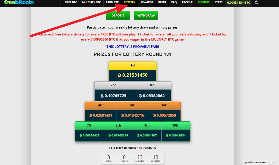 лотерея Фрибиткоин