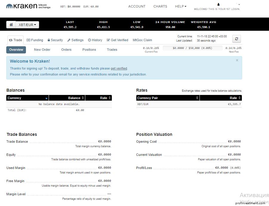 обзор сайта kraken.com