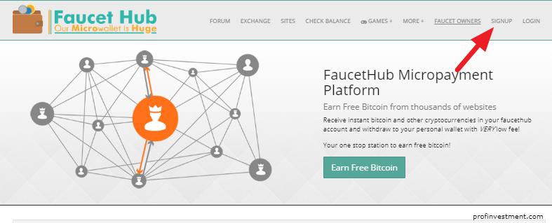 регистрация на сайте faucethub.io