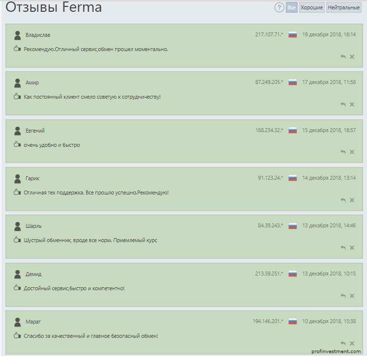 отзывы о Ferma cc