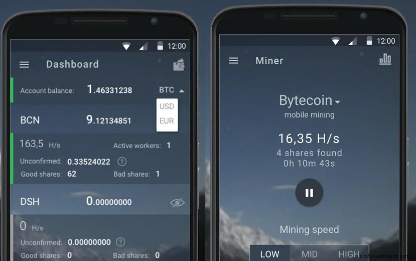 мобильное приложение для майнинга биткоина