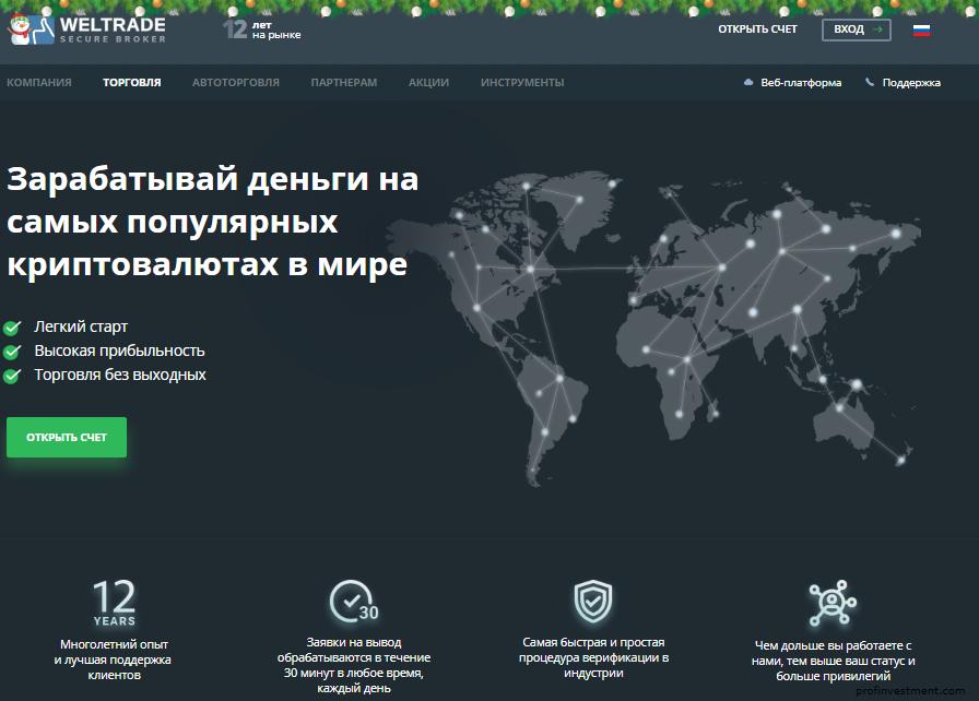 weltrade сайт криптовалютного брокера