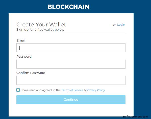 регистрация блокчейн кошелька