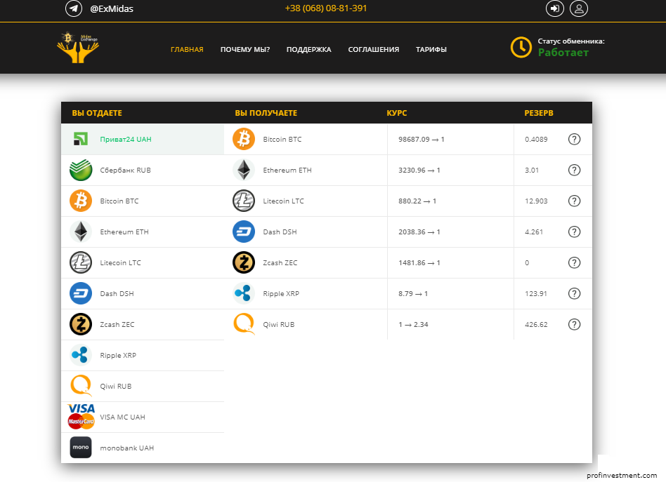 Провести обмен Bitcoin на Payeer RUB