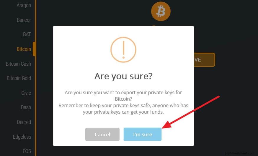 подтверждение извлечение закрытых биткоин ключей