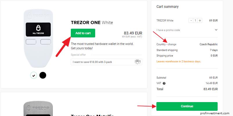 официальный сайт trezor.io для покупки