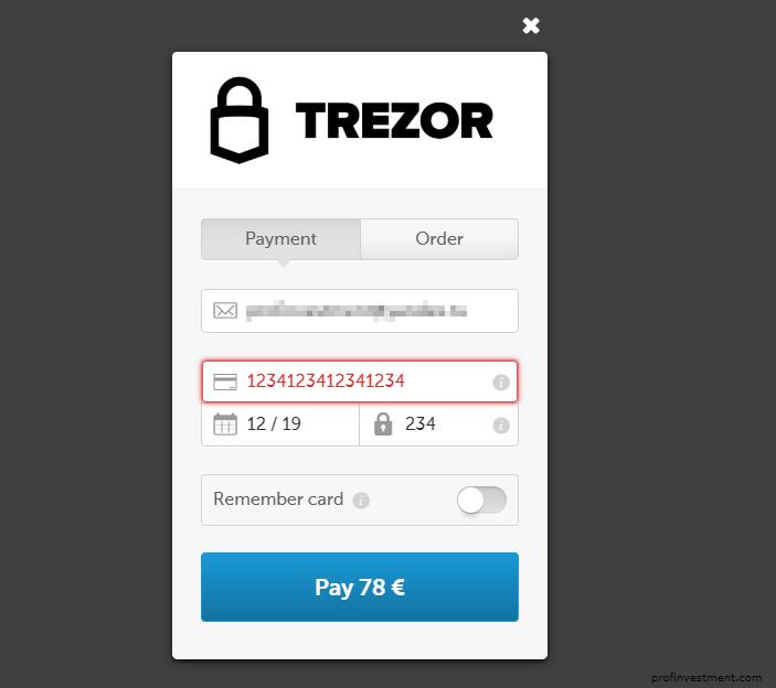 купить trezor wallet с банковской карты