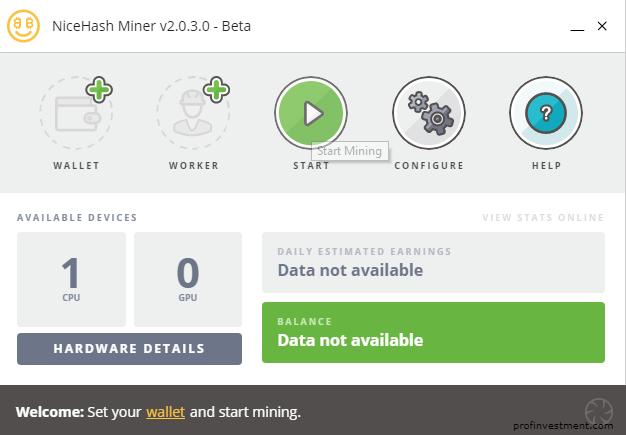 Программы Nice Hash MinerLegacy