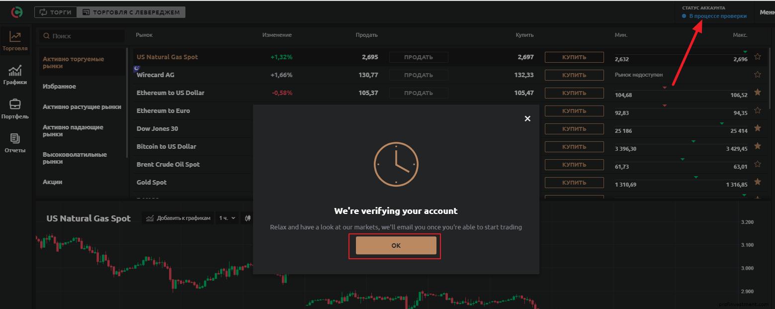 время регистрации на платформе currency.com