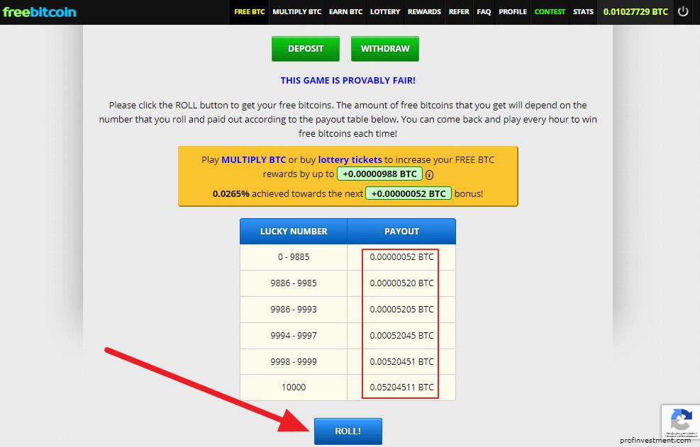 автоматический заработок на биткоин кране freebitcoin