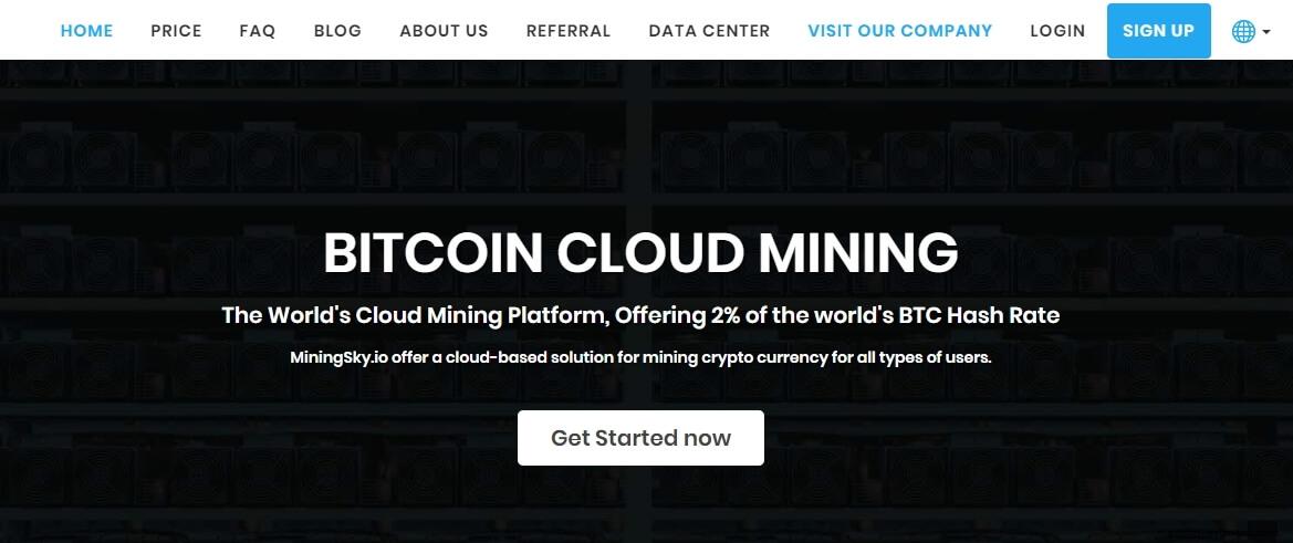 Miningsky облачная платформа для майнинга