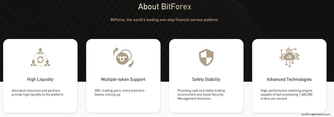 информация о бирже bitforex