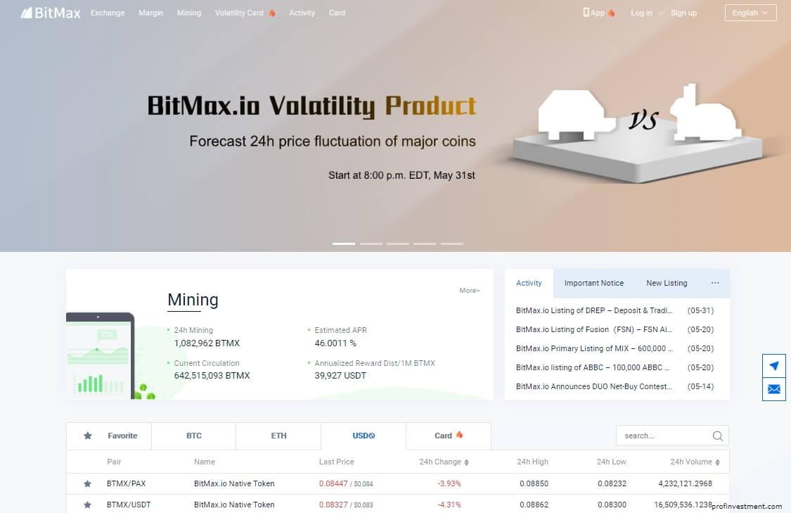биткоин биржа bitmax